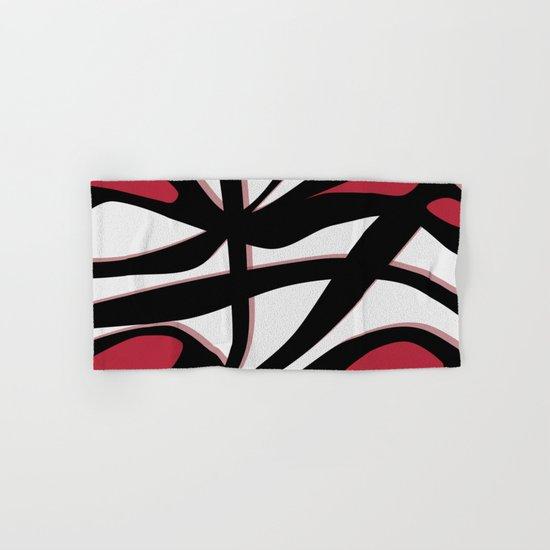 Tangled Red Hand & Bath Towel
