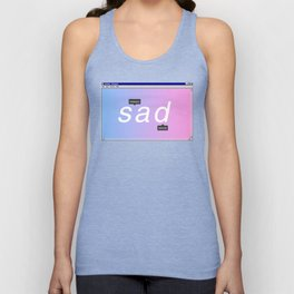 Sad Aesthetic Vaporwave Gift Notepad Window Emotional design Unisex Tank Top