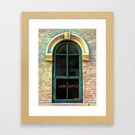 Law Office Framed Art Print