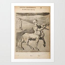 Hugo de Groot's Syntagma Arateorum 1600 - 35 Centaurus Art Print