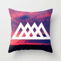 angels Throw Pillows featuring Angels by ATWA