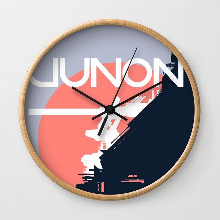 Final Fantasy VII - Visit Junon Propaganda Poster Wall Clock