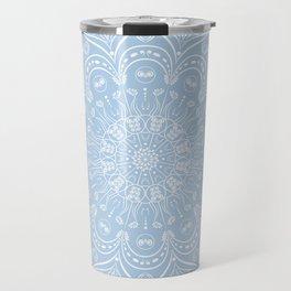 Baby Blue Boho Mandala Travel Mug