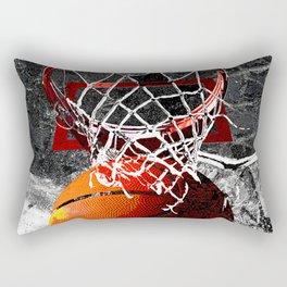 Basketball art print swoosh 101 Rectangular Pillow