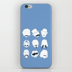 Famous Moustaches blue iPhone & iPod Skin