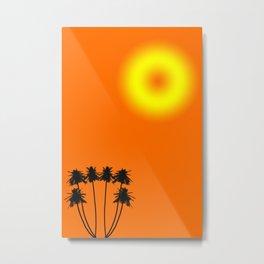 Holiday sun Palm Trees Metal Print