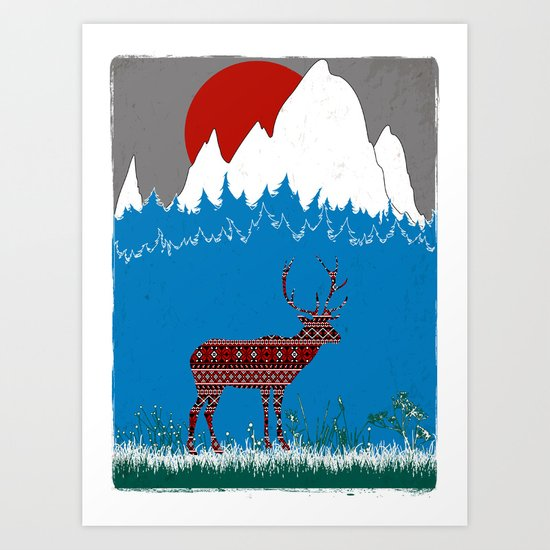 Deer Escapes From Gap Sweater Art Print