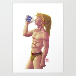 Lonlon Milk makes your body good Art Print
