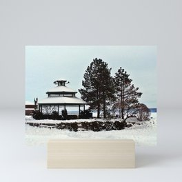 Gazebo on the Lake Mini Art Print