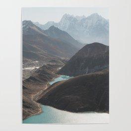 Gokyo Ri overlooking Gokyo Lakes in Everest Region Poster