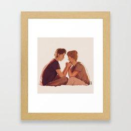 Even + Isak : Minutt for Minutt Framed Art Print