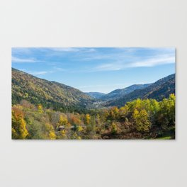 Colorful French valley Canvas Print
