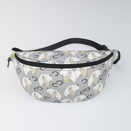 Peppermint Ponies White Fanny Pack