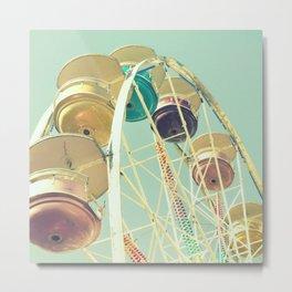 Pastel Ferris Wheel Metal Print