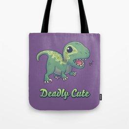 Deadly Cute Raptor Tote Bag