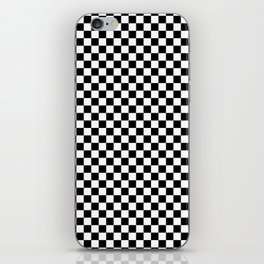 Classic Black and White Checkerboard Repeating Pattern iPhone Skin