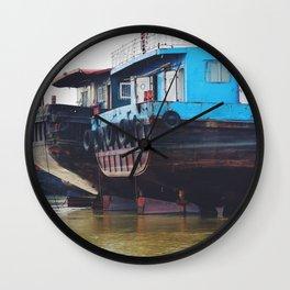Ships sitting at Sea Wall Clock