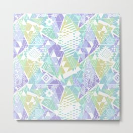 Abstract ethnic pattern in pastel colors. Metal Print