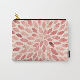 Watercolor brush strokes - living coral Carry-All Pouch