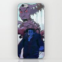 xmen iPhone & iPod Skins featuring Xmen vs The Thing by ashurcollective