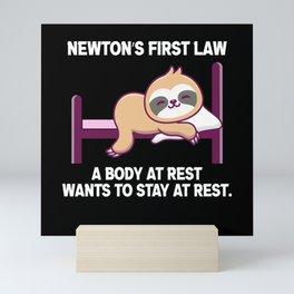 Science Quotes Newton Law gift Scientist Mini Art Print