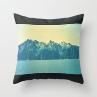 alaska Throw Pillows featuring Alaska by Taylor Palmer