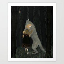 Lupine Friend Art Print