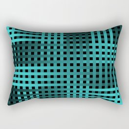 Teal Weave Rectangular Pillow