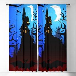 Dark Forest on Halloween Night Blackout Curtain