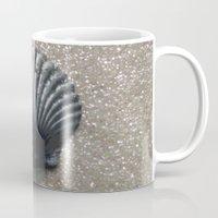 seashell Mugs featuring Seashell by JMVasquez Photography