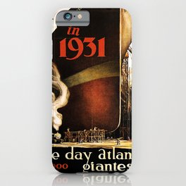 retro iconic in 1931 poster iPhone Case