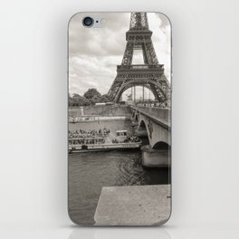 Eiffel Tower Black and white iPhone Skin