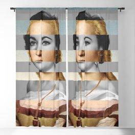 Raphael's Young Woman with Unicorn & Elizabeth Taylor Blackout Curtain