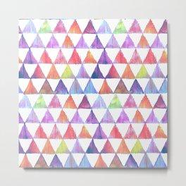 pastel triangles ikat print Metal Print
