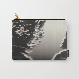 Black & Silver Grey Photograph Liquid Metal #2 Carry-All Pouch