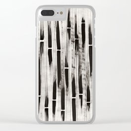 Bamboo Brush Clear iPhone Case