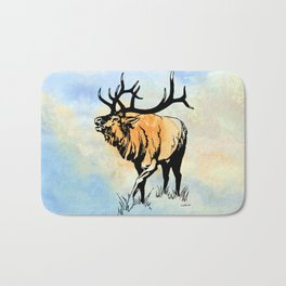 ELK IN THE MIST Bath Mat