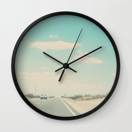 lets go on a road trip photograph Wall Clock