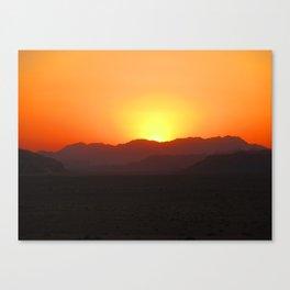 Wadi Rum Sunset Canvas Print