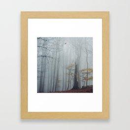 November fog - Winter Baltic Sea Serie Framed Art Print