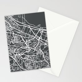 Algiers Algeria Map in Retro Style. Stationery Cards
