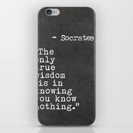 Socrates quote iPhone Skin