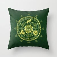 triforce Throw Pillows featuring Zelda Triforce  by DavinciArt