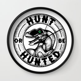 Hunt or be Hunted Wall Clock