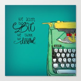 the love you deserve - perks of being a wallflower Canvas Print