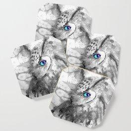 black and white: owl Coaster