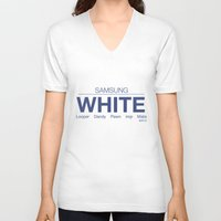 samsung V-neck T-shirts featuring Samsung White League of Legends by Thomas Official