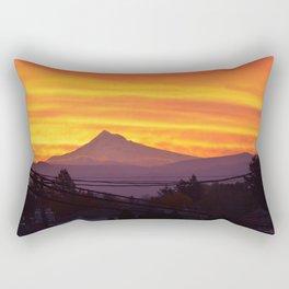 Mt. Hood Sunrise Rectangular Pillow