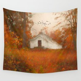 Church on the Hill Wall Tapestry