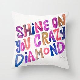 Shine On Your Crazy Diamond – Vintage Palette Throw Pillow